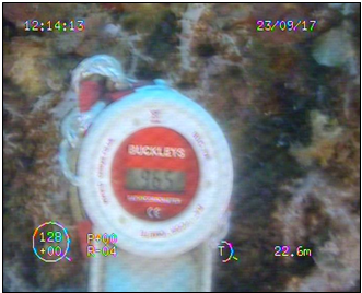 ROV take CP reading measurement at 1st level H/B B2-C1